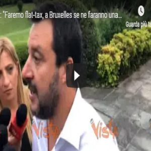 """Matteo Salvini da Washington : """"Faremo la Flat Tax. L'Italia non si accontenta più delle briciole"""""""