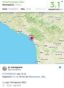 Terremoto 3,1 di magnitudo a Forte dei Marmi: scossa avvertita a Massa, Viareggio, Pisa e La Spezia