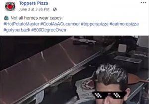 california afferra pizza al volo