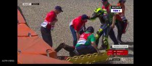 youtube Valentino Rossi, brutta caduta. Coinvolto anche Nakagami nell'incidente VIDEO