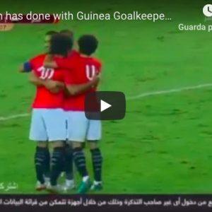Salah, numero straordinario sul portiere avversario in Egitto-Guinea VIDEO