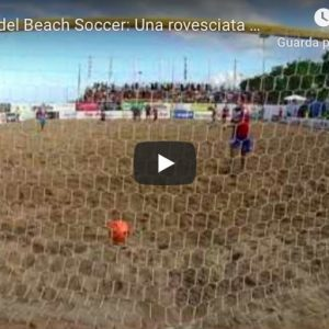 Gabriele Gori (beach soccer), gol in rovesciata da centrocampo. E' il più bello di sempre? VIDEO