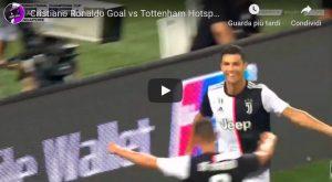 Juventus-Tottenham 2-2 highlights video gol youtube higuain cristiano ronaldo
