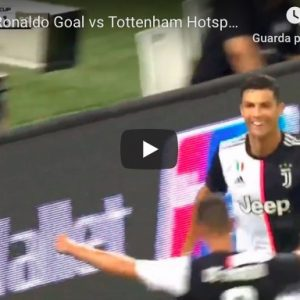Juventus-Tottenham 2-2 highlights video gol youtube higuain cristiano ronaldo