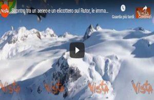 Scontro tra un aereo e un elicottero sul Rutor, le immagini trovate in due GoPro VIDEO