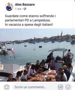 Sea Watch, il photoshop del leghista Bazzaro: pranzo luculliano in mare con Carola e migranti