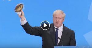 Boris Johnson e la gaffe dell'aringa confezionata