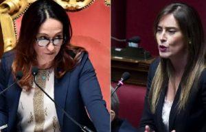 """Paola Taverna e Maria Elena Boschi, cazzotti virtuali su Twitter: """"Fai il saldatore"""", """"Io avvocato, e tu?"""""""