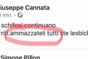Il post omofobo di Giuseppe Cannata