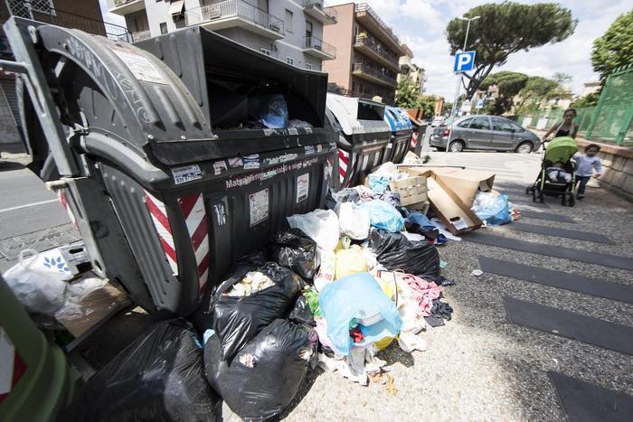 Roma: Gabrella, la colf rumena rimuove i rifiuti in strada3
