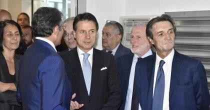 Premier Conte e governatore lombardia Attilio Fontana