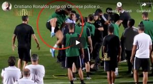 Cristiano Ronaldo salta poliziotto video YouTube