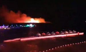 incendio isola pag croazia