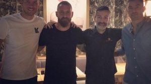 De Rossi a cena con Dzeko e Kolarov. Smetterà di giocare? Ancora non ha deciso