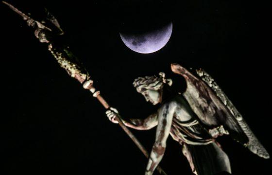 Eclissi parziale lunare vista da Berlino