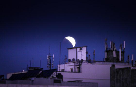 Eclissi parziale lunare in Uruguay