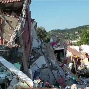 La palazzina distrutta all'Isola d'Elba
