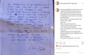 Elena Santarelli e lo zio Vittorio suicida