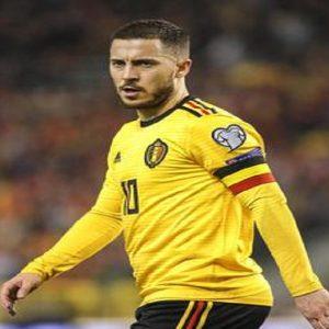 Hazard con la nazionale belgaa