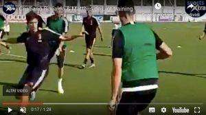 Juventus allenamento Cristiano Ronaldo video YouTube