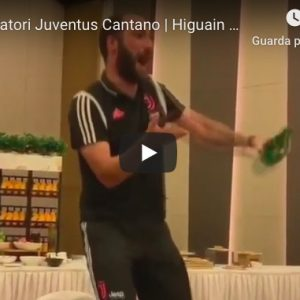 Juventus Higuain canta balla video youtube