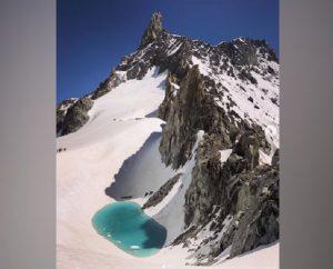 monte bianco lago si forma a causa del caldo