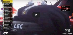 Leclerc incidente germania reazione video youtube
