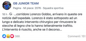 Lorenzo Gobbo trafitto in pista, tremendo incidente per ciclista italiano: ora è fuori pericolo