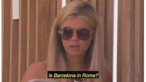 Love Island, gaffe sulla geofrafia per le concorrenti: Barcellona è in Italia