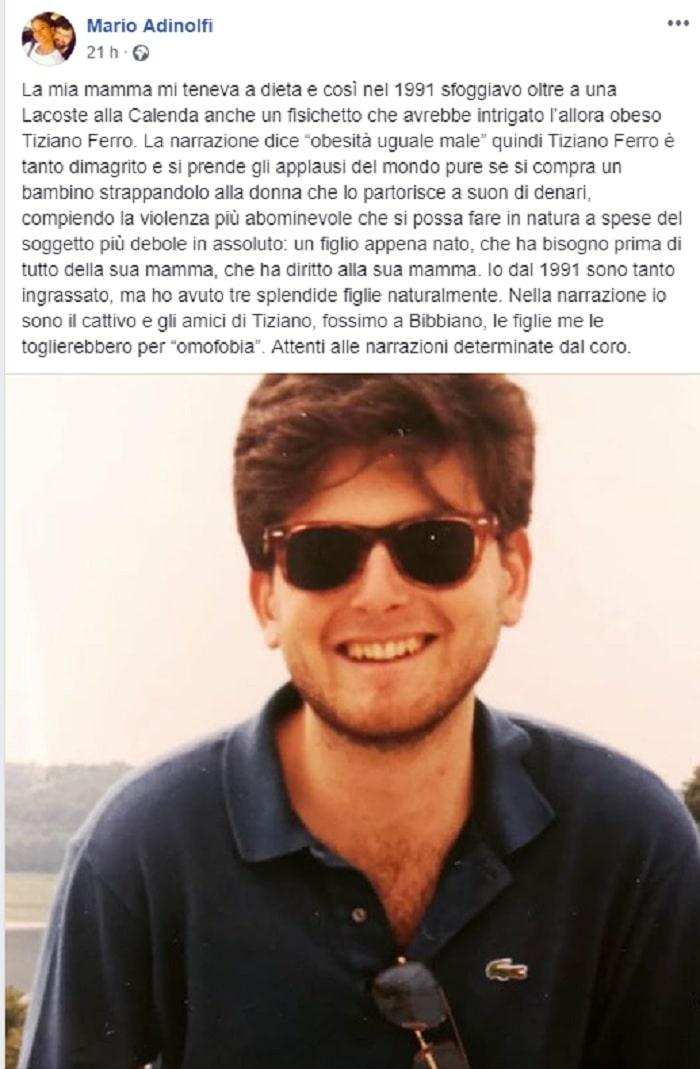 adinolfi posta foto a 20 anni