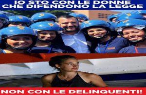 """Matteo Salvini e la foto con le poliziotte. Il Pd: """"Presenteremo interrogazione parlamentare"""""""