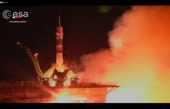 Missione Beyond lancio Soyuz