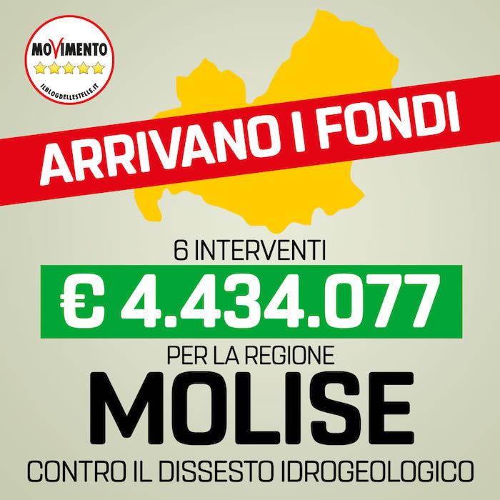 """M5s annuncia soldi per Molise, ma la cartina è delle Marche. """"Vento del cambiamento sposta Regioni"""" 02"""