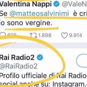 """Radio Due, like al tweet di Valentina Nappi su Salvini. Capitanio (Lega): """"Grave. Servono regole più stringenti"""""""
