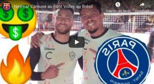 Neymar, show con il campione di beach soccer Bello Soares VIDEO