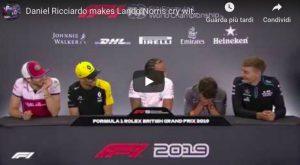 Norris scoppia a ridere durante conferenza stampa Formula 1 VIDEO