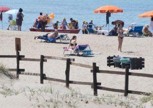 Una spiaggia di Ostia