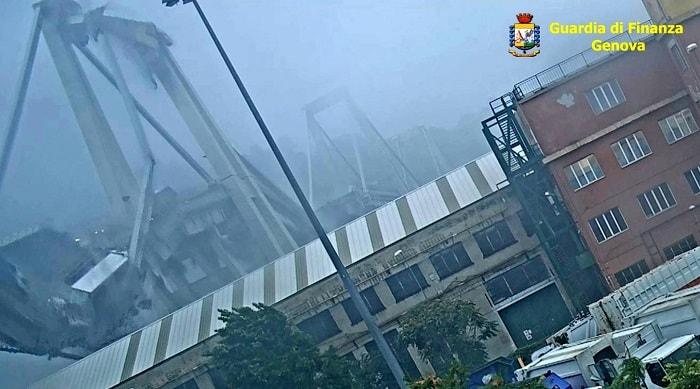 Ponte Morandi, VIDEO inedito: pilone cede e crolla tutto1
