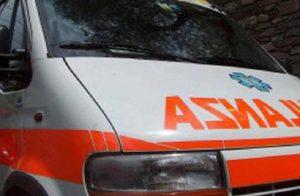 Un'ambulanza in una foto d'archivio