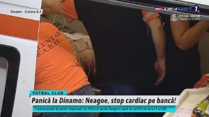 romania, allenatore della dinamo bucarest crolla in campo colpito da un infarto