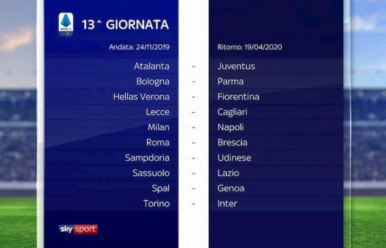 Calendario Serie B 2020 13.Serie A Calendario 2019 2020 Foto Sorteggio Dalla 1 Alla 38