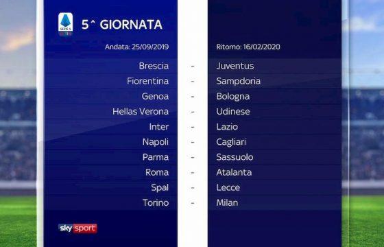 Calendario Serie B 2020 19.Serie A Calendario 2019 2020 Foto Sorteggio Dalla 1 Alla 38