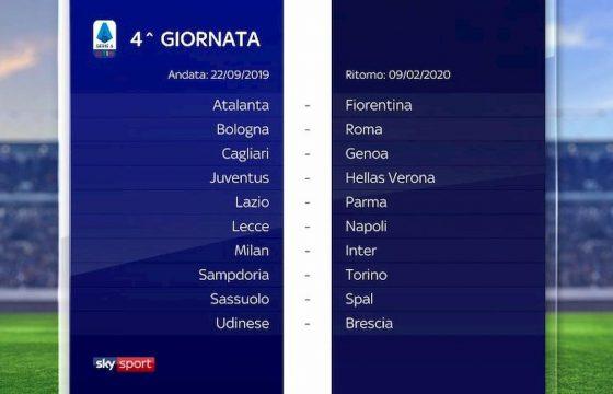 Serie A Calendario 2019 2020 Foto Sorteggio Dalla 1 Alla 38 Giornata