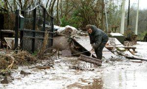 Spagna, alluvioni in Navarra: autista muore trascinato via (foto d'archivio Ansa)