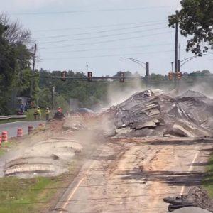 asfalto esplode