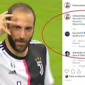 Toni Higuain esultanza Juventus Tottenham Instagram