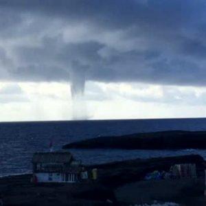 Tromba d'aria su Ischia