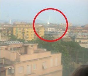 ufo a villa chigi a roma