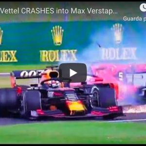 Vettel tampona Verstappen, incidente Silverstone costa caro alla Ferrari VIDEO