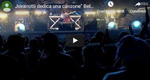 Nadia Toffa, la dedica di Jovanotti durante il concerto VIDEO